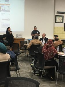 Presenters share information with parents.