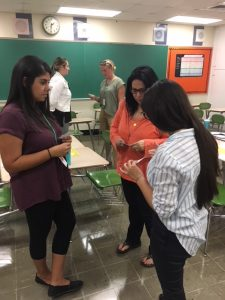 Teachers engaged in a strategy